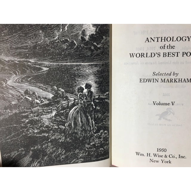 "Vintage 1950 Edition ""Anthology of the Worlds Best Poems"" Books - Set of 6 For Sale - Image 11 of 13"