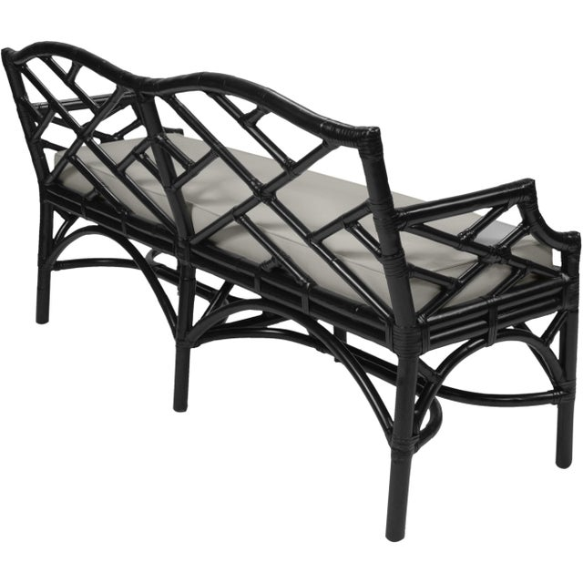 Chippendale Chippendale Bench - Black For Sale - Image 3 of 5
