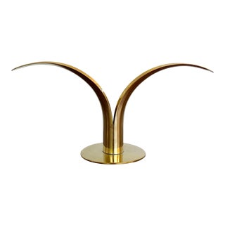 Mid-Century Swedish Brass Candlestick For Sale