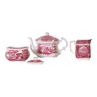 1950s Copeland English Tea Set-Set of 4 For Sale