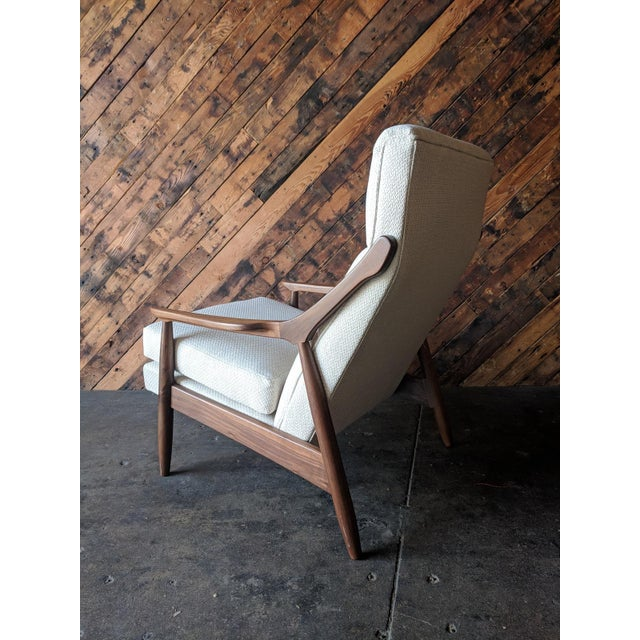 Custom Danish Mid Century Style Lounge Chair For Sale In Los Angeles - Image 6 of 9