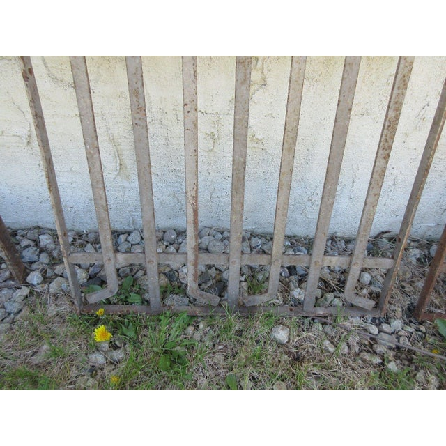 Antique Victorian Iron Gate For Sale - Image 4 of 5