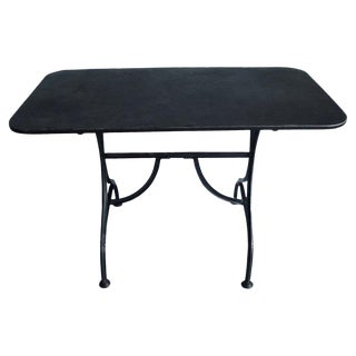 19th Century French Steel Bistro Table For Sale