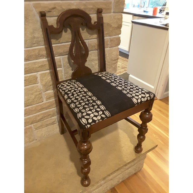 Vintage Small African Mudcloth Chair For Sale - Image 4 of 6
