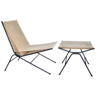 """Original Allan Gould """"Bow"""" Chair and Ottoman For Sale"""