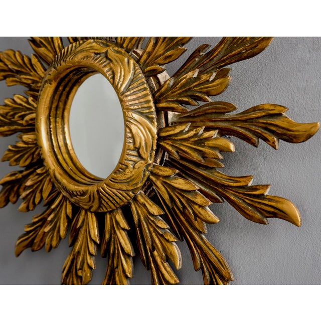 Double Layer Giltwood Sunburst Mirror For Sale In Detroit - Image 6 of 11