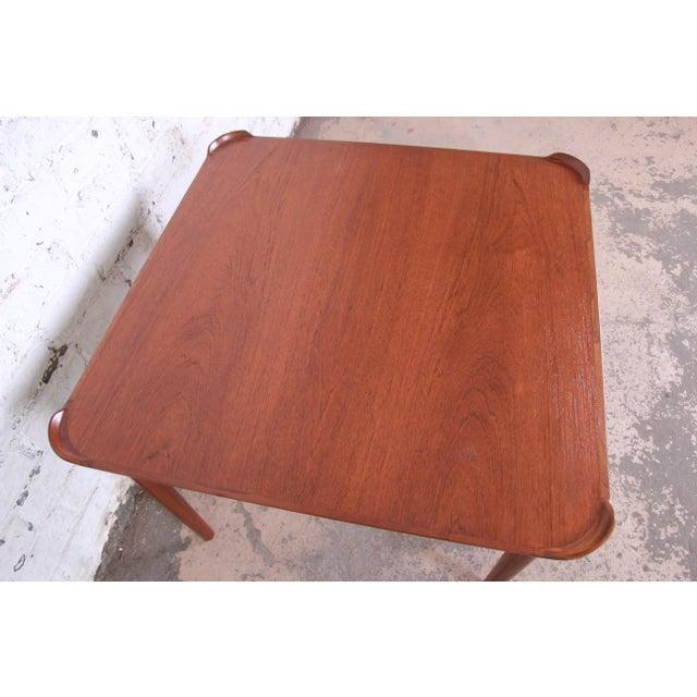 Teak Finn Juhl for Baker Furniture Teak Game Table For Sale - Image 7 of 9