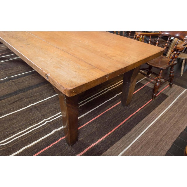 Fruitwood 1840's English Farm House Table For Sale - Image 7 of 9