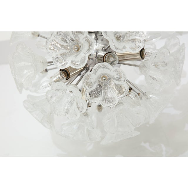 Italian Floral Glass Sputnik Chandelier For Sale - Image 4 of 11