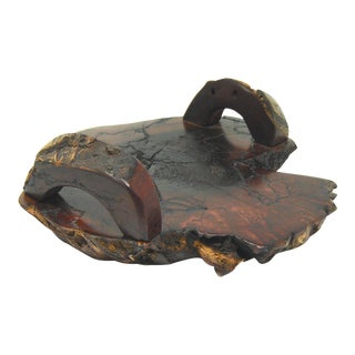 Mesquite Live Edge Slab Serving Tray For Sale