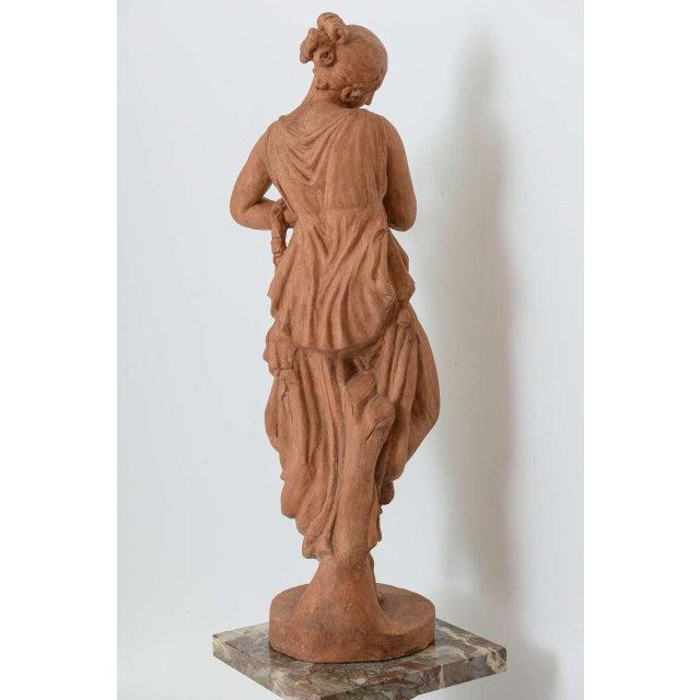 Ceramic Neoclassical Greco-Roman Terracotta Garden Sculpture, France, 19th Century For Sale - Image 7 of 11