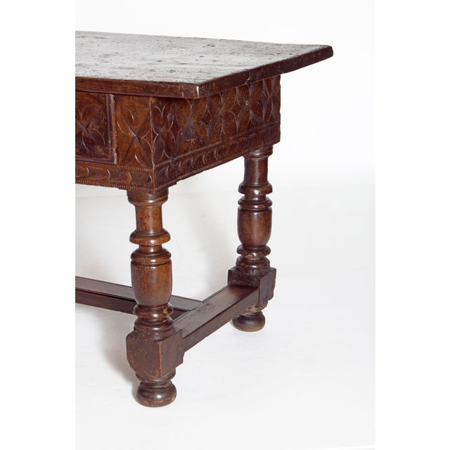 Late 17th Century Spanish Baroque Walnut Center Table For Sale - Image 4 of 13