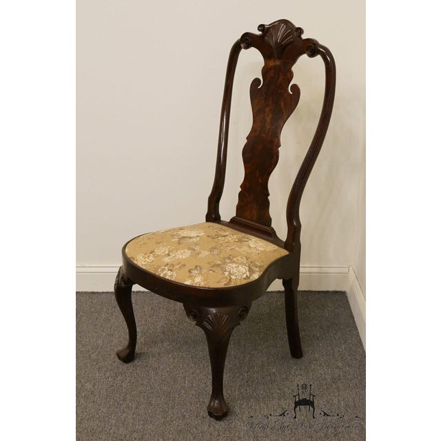 Stickley Stickley Queen Anne Splatback Mahogany Dining Side Chair For Sale - Image 4 of 13
