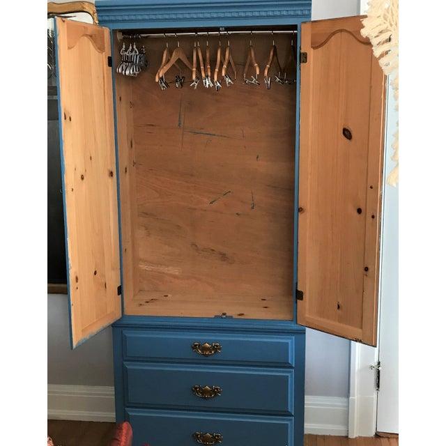 Custom Hand-Painted Blue Wardrobe - Image 7 of 7
