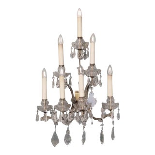Waldorf Astoria Center Suite Crystal Marie Therese Sconce For Sale