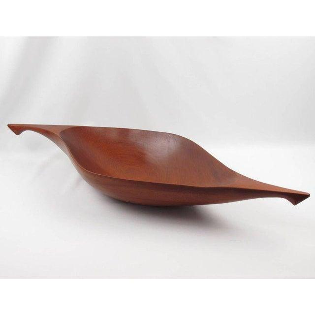 Mahogany Arthur Umanoff for Raymor Mahogany Canoe Bowl Centerpiece For Sale - Image 7 of 9