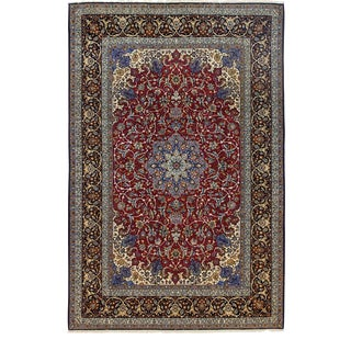 One-Of-A-Kind Persian Hand-Knotted Area Rug, Raspberry, 7 X 10' 7 For Sale