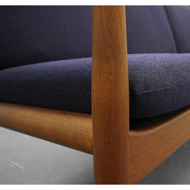 Teak Solid Danish Teak Slat-Back Sofa by Grete Jalk for France & Son For Sale - Image 7 of 9