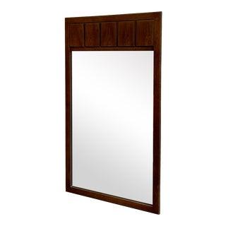 Mid Century Modern Walnut Mirror For Sale