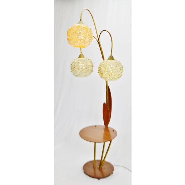 Vintage Mid-Century Modern Spaghetti Spun Floor Lamp | Chairish