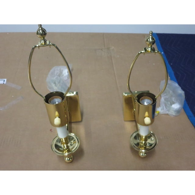 Brass Single Arm Hinson Sconces - 2 - Image 2 of 6