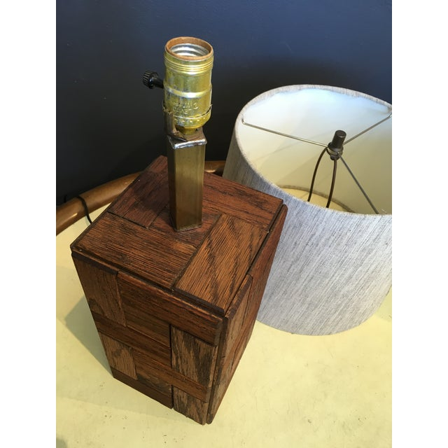 Mid-Century Hand Crafted Wood Table Lamp For Sale - Image 9 of 10