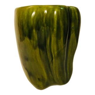 Mid-Century McCoy Green Organic Style Vase For Sale