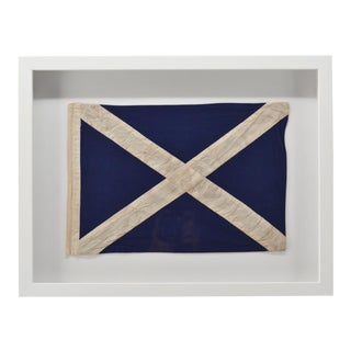 "Real Framed Cotton Signal Flag ""M"" For Sale"