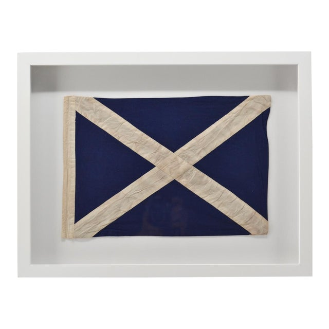 """Real Framed Cotton Signal Flag """"M"""" For Sale"""