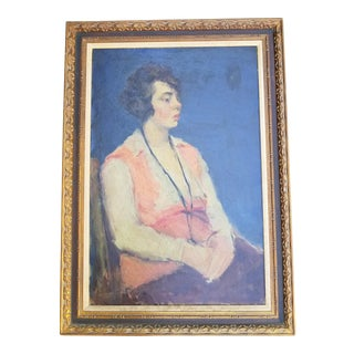 Arts and Crafts Portrait Painting For Sale