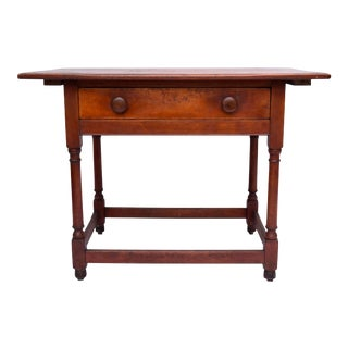 Farmhouse Single Drawer Table For Sale