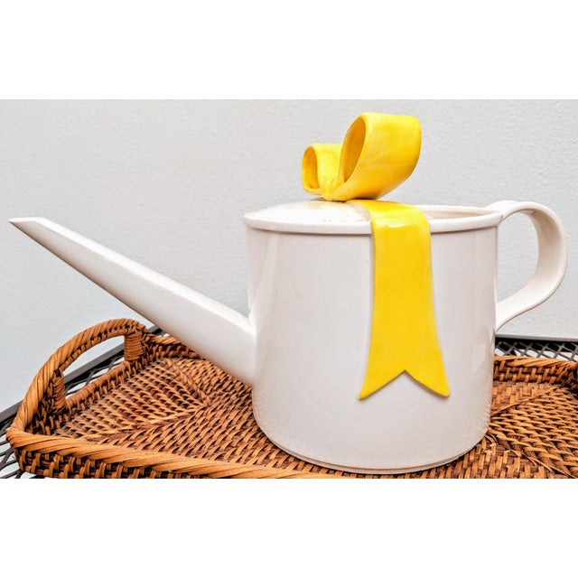 Fitz and Floyd Yellow Bow Watering Can For Sale In Dallas - Image 6 of 6