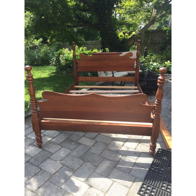 20th Century Full-Size Cherry Bedframe For Sale - Image 13 of 13