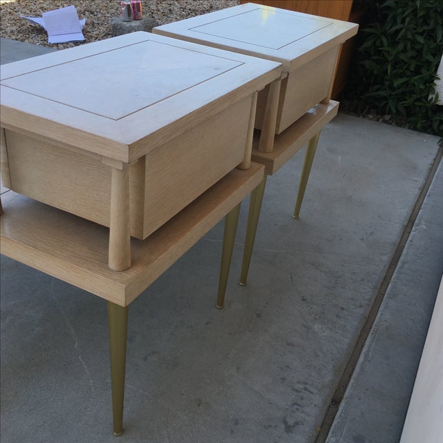 Mid-Century Modern Lane Maple Nightstands - A Pair - Image 8 of 11