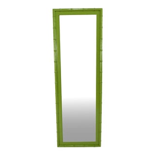 Mid Century Apple Green Mirror