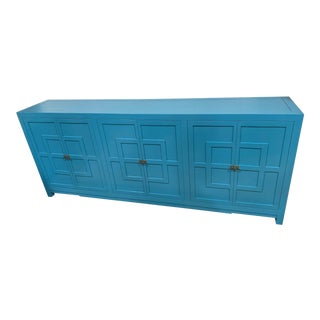 Contemporary Asian Style Blue Key Cabinet For Sale