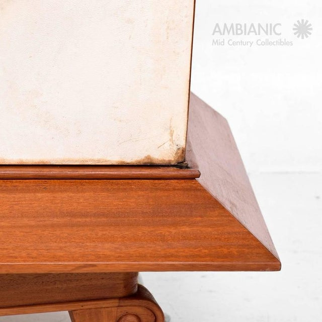 Mexican Modernist Cabinet With Parchment Doors For Sale - Image 9 of 10