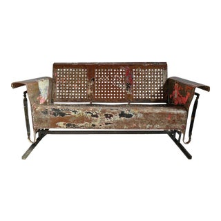 Vintage Iron Glider Bench For Sale