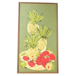 Framed Vera Art - Pineapples, Pears and Apples