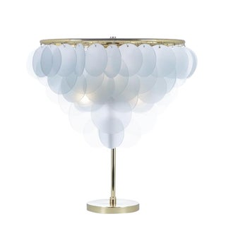 Brass & Glass Cloud Lamp For Sale
