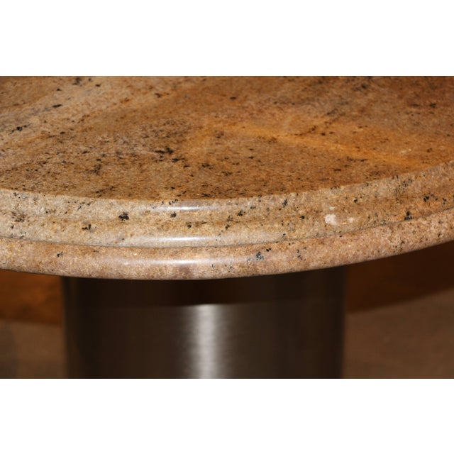 Pace Collection Brushed Steel and Granite Top Table For Sale - Image 4 of 6