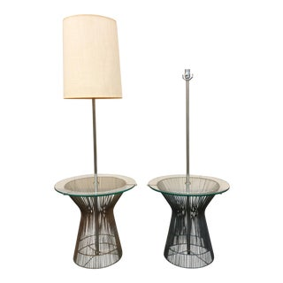 Laurel Lamp Platner Style Wire Floor Lamps - A Pair