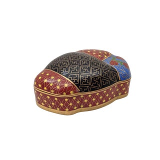 Japanese Knot Cloisonné Box For Sale