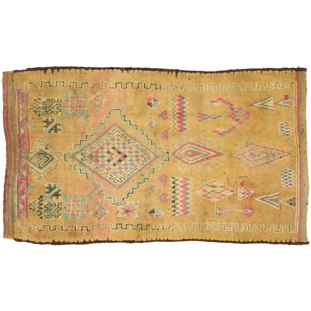 Vintage Berber Moroccan Rug With Earth-Tone Colors - 05'01 X 08'05 For Sale - Image 9 of 10