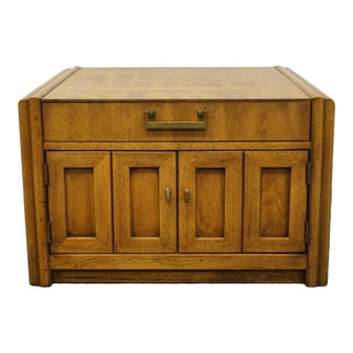 """Thomasville Furniture Commentary Collection 30"""" Square Accent Storage Table For Sale"""