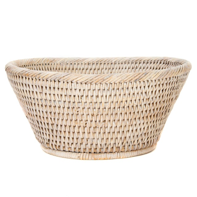 Artifacts Rattan Round Bowl For Sale In Houston - Image 6 of 6