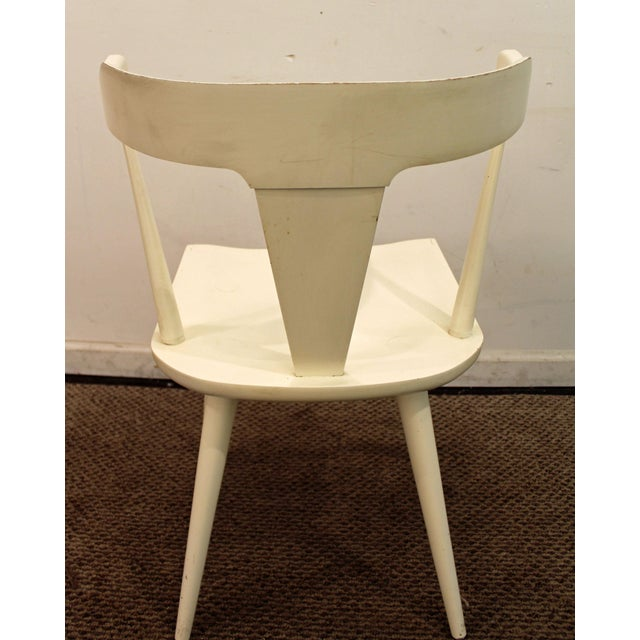 Mid 20th Century Mid-Century Danish Modern White Paul McCobb Planner Group Desk Side Chair For Sale - Image 5 of 11
