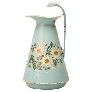Original Antique English Toleware Wash Bowl/Basin Set