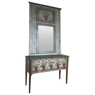 Habersham Signed Sideboard & Mirror For Sale