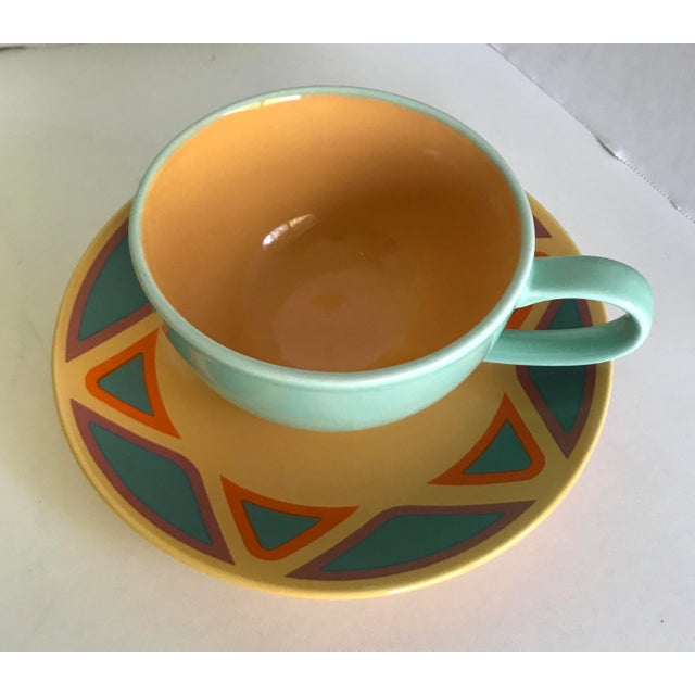 Early 20th Century Vintage Germany Picasso Mug and Plate - Service for 3 For Sale - Image 5 of 8